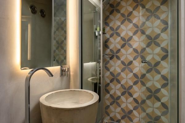 Aspalathos Hotel Bathroom - Elakati Best Hotel in Rhodes Greece