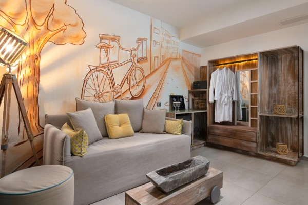 Aspalathos Living Room - Elakati Luxury Boutique Hotel in Rhodes