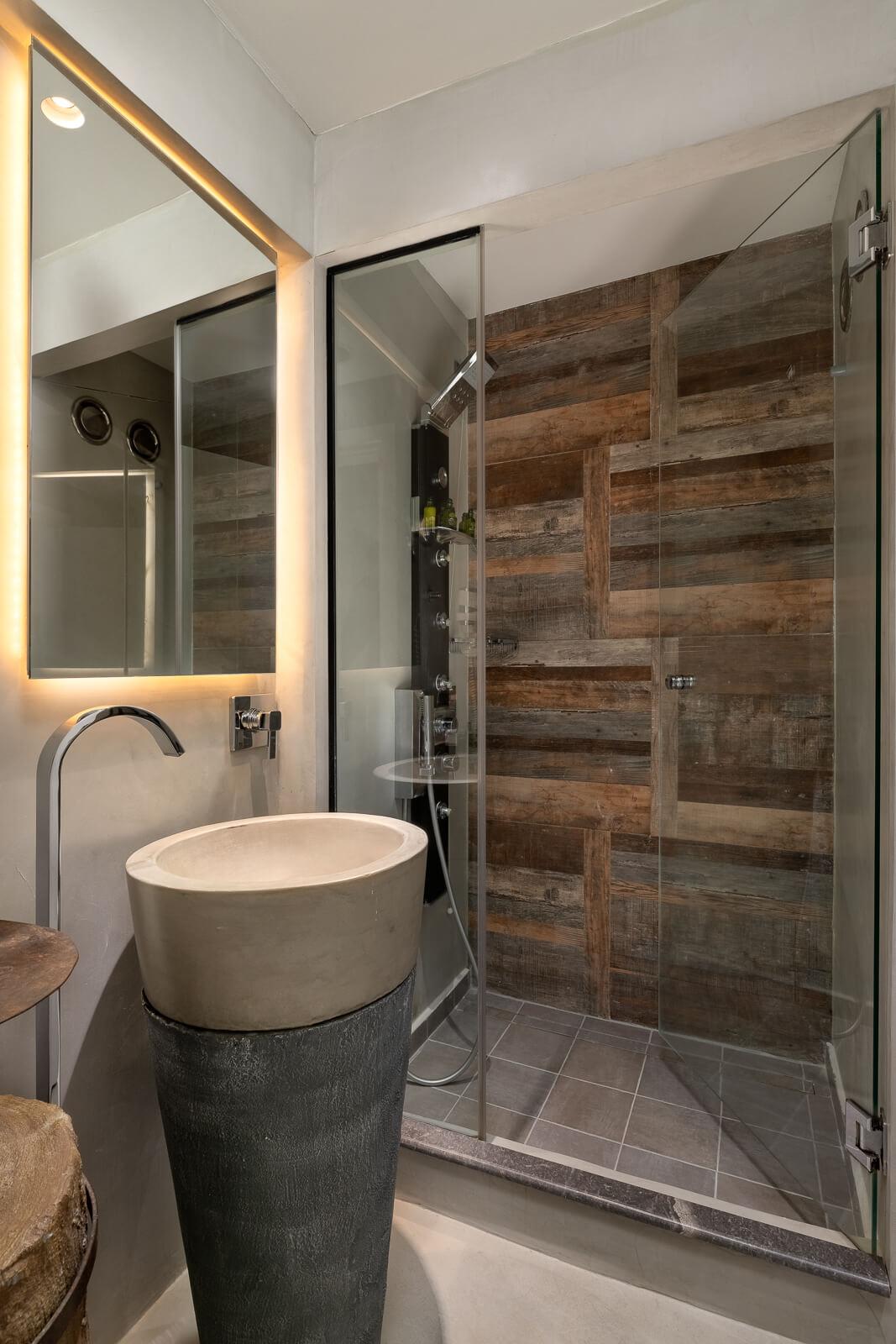 Castro Hotel Bathroom - Elakati Best Hotel in Rhodes Greece