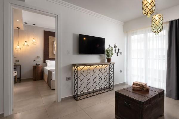 Castro Suite Living Room - Elakati Luxury Boutique Hotel in Rhodes