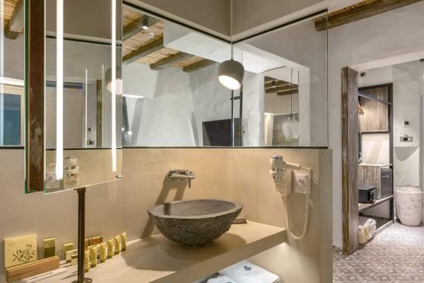 Helios Suite Hotel Bathroom - Elakati Best Hotel in Rhodes Greece