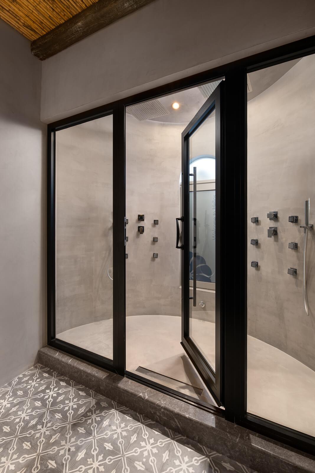 Helios Suite Luxury Bathroom - Elakati Best Hotel in Rhodes Greece