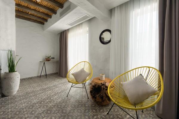 Helios Suite Sitting Area - Elakati Luxury Boutique Hotel in Rhodes