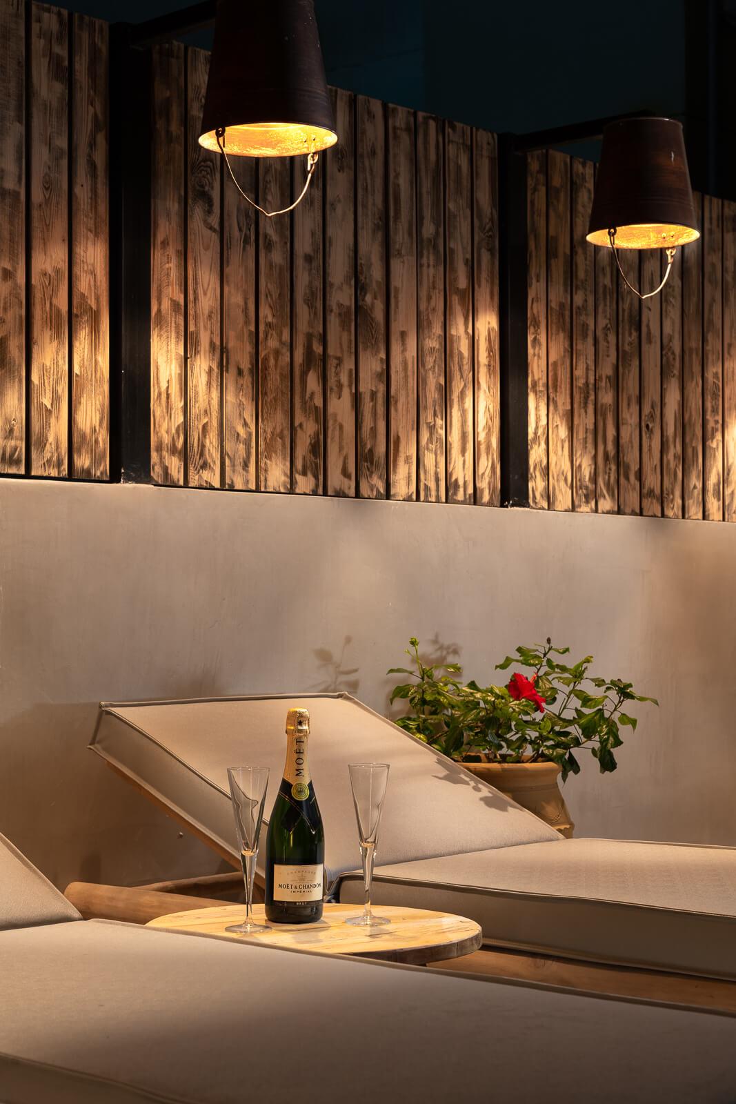 Iviskos Suite Private Terrace with Sunbeds - Elakati Hotel in Rhodes Greece