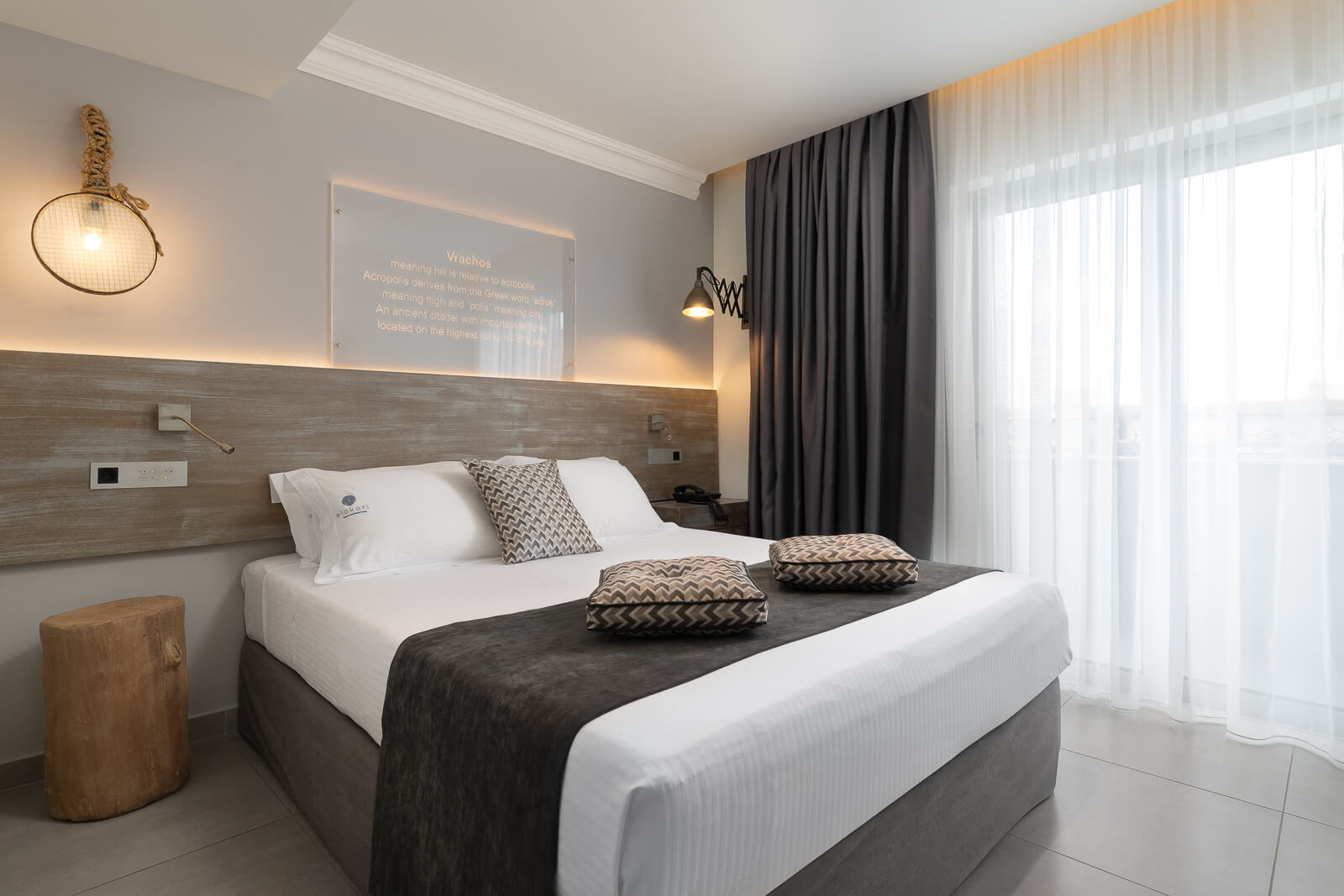 Vrachos Themed Room - Elakati Hotel in Rhodes Greece