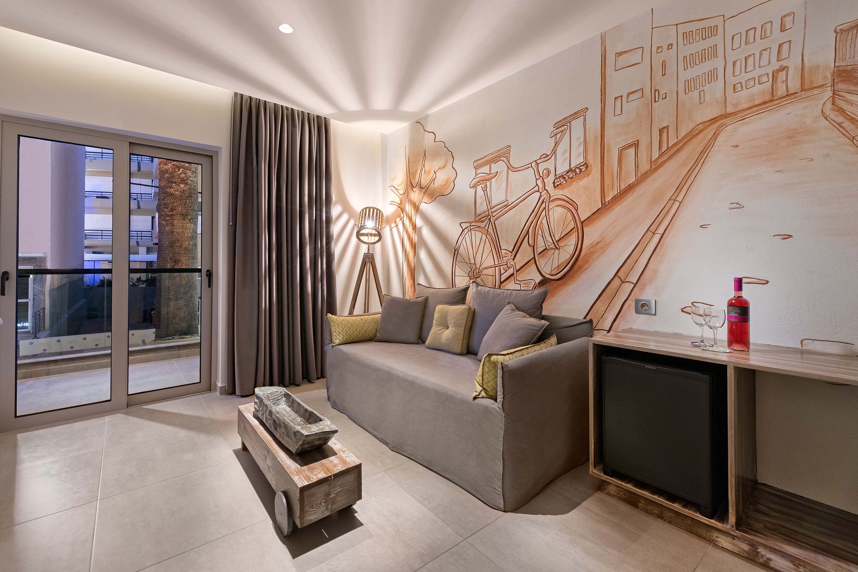Aspalathos Suite Living Room - Elakati Luxury Boutique Hotel in Rhodes