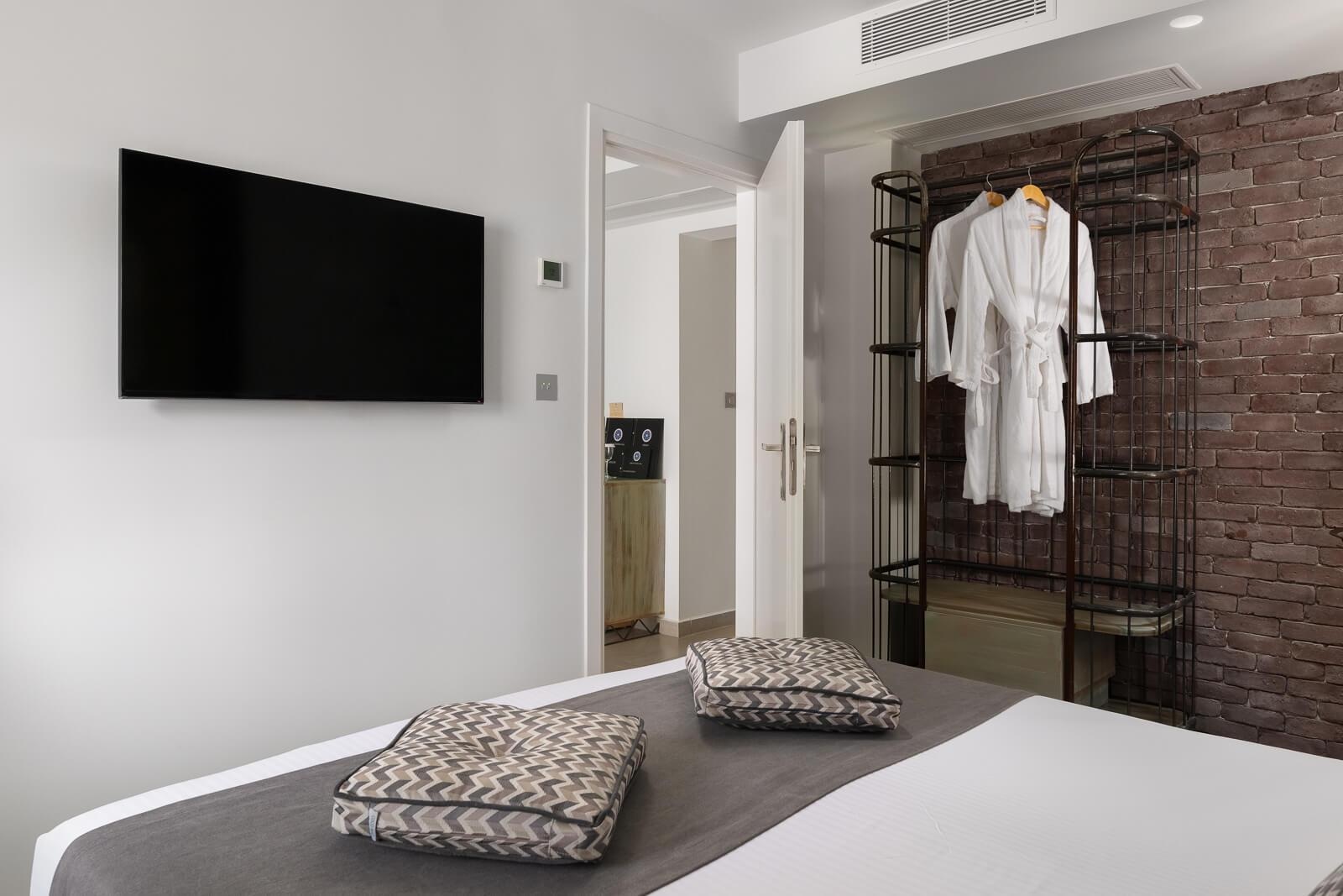 Castro Hotel Bedroom - Elakati Best Hotel in Rhodes Greece