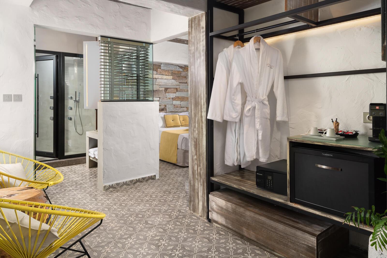 Helios Suite Sitting Room- Elakati Luxury Boutique Hotel in Rhodes