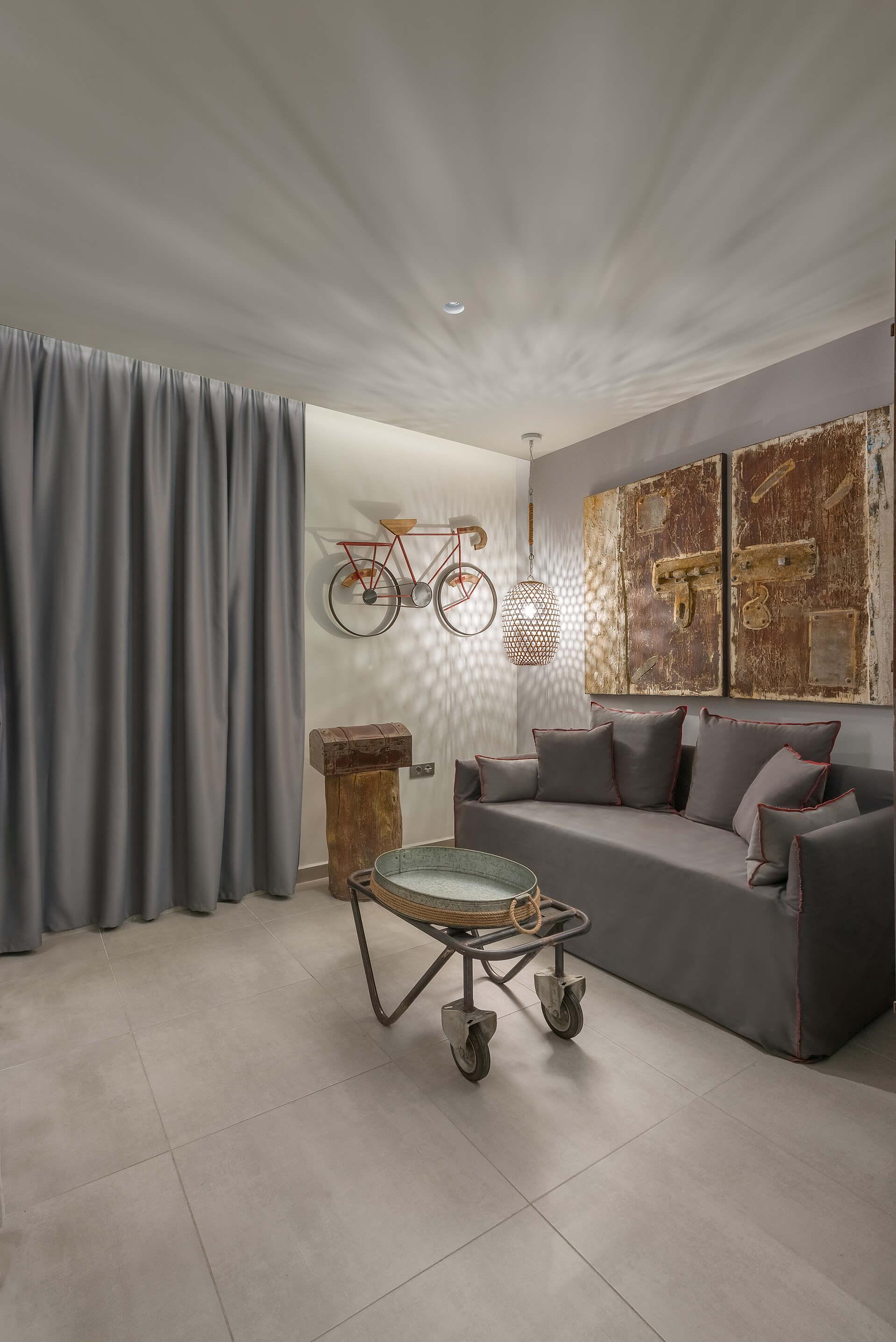 Iviskos Hotel Suite Living Room - Elakati Luxury Boutique Hotel in Rhodes