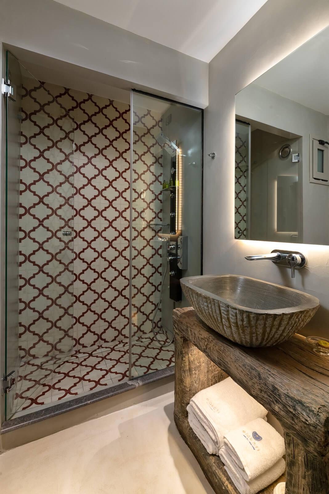 Iviskos Suite Bathroom - Elakati Best Hotel in Rhodes Greece