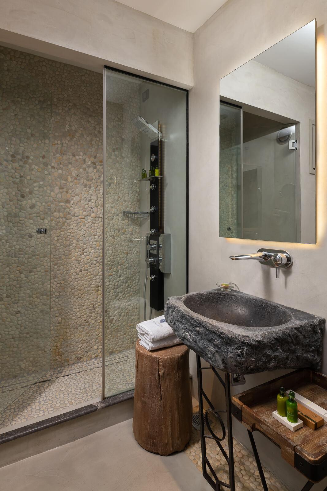 Kavos Hotel Bathroom - Elakati Best Hotel in Rhodes Greece