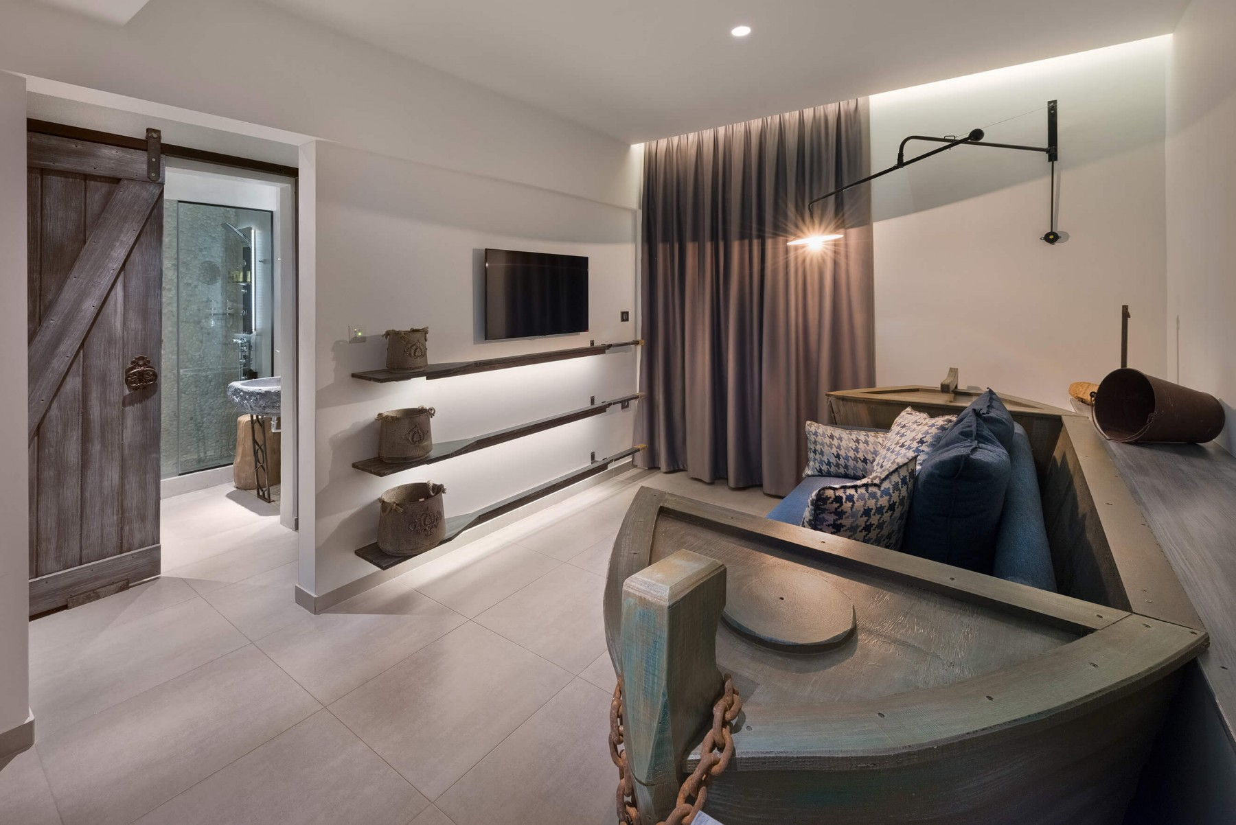 Kavos Suite Living Room - Elakati Luxury Boutique Hotel in Rhodes