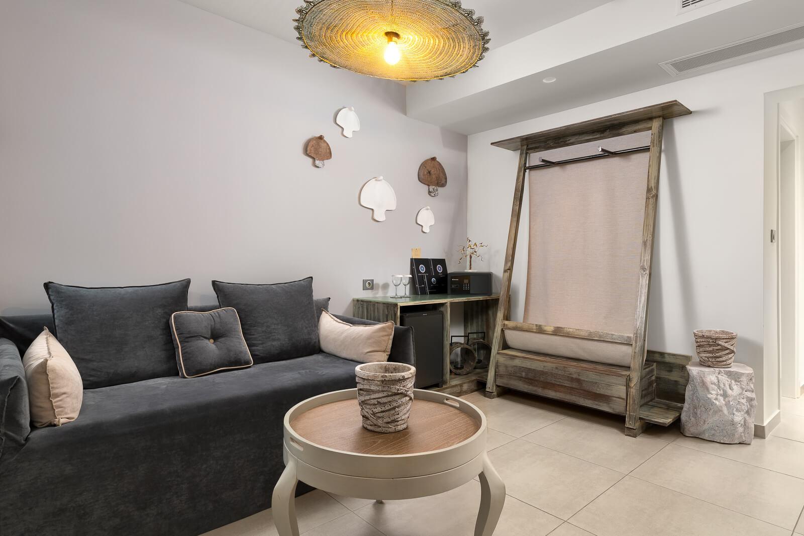 Nisos Living Room - Elakati Luxury Boutique Hotel in Rhodes